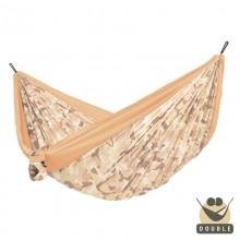 """Double hammock"" for travel Colibri CAMO Sahara - By the Hammock Shop of Canada"