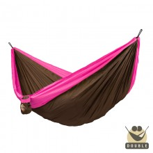 """Double hammock for travel"" La Siesta Colibri Fuchsia - By the Hammock Shop of Canada"