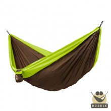 """Double hammock for travel"" La Siesta Colibri Green - By the Hammock Shop of Canada"