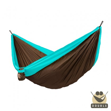 """Double hammock for travel"" La Siesta Colibri Turquoise - By the Hammock Shop of Canada"