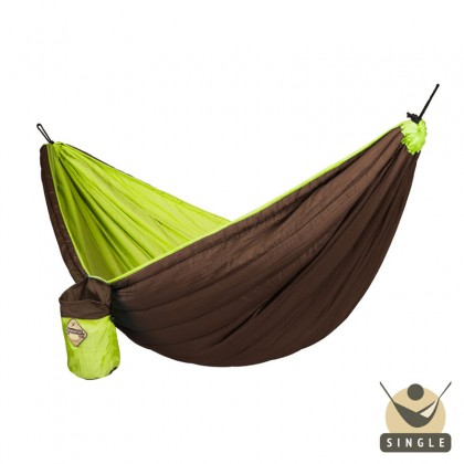 Single Padded Travel Hammock COLIBRI green - By the Hammock Shop of Canada