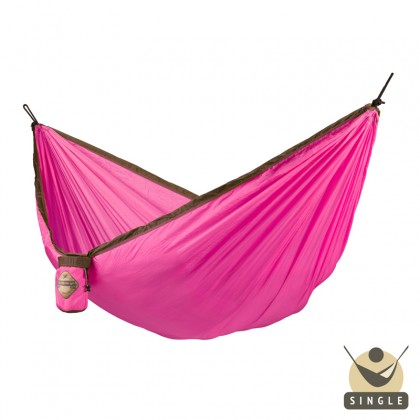 """Single hammock for travel"" La Siesta Colibri Fuchsia - By the Hammock Shop of Canada"