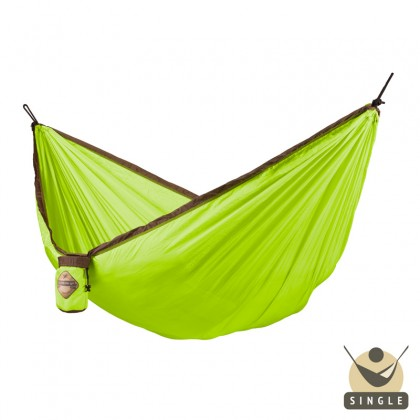 """Single hammock for travel"" La Siesta Colibri Green - By the Hammock Shop of Canada"