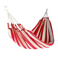 """Single hammock"" Naya Nayon La Marinera (Stripe Red) - By the Hammock Shop of Canada"