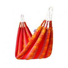 """Single hammock"" Naya Nayon Otavaleña (red) - By the Hammock Shop of Canada"