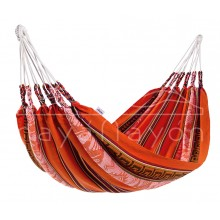 """Single hammock"" Naya Nayon Otavaleña (orange) - By the Hammock Shop of Canada"